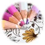 Kleurkaarten en kleurboeken voor volwassenen