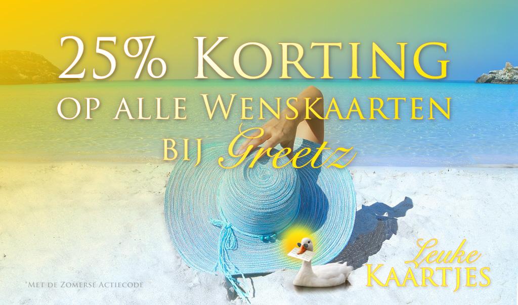 Zomerkorting! 25% Korting op alle Wenskaarten