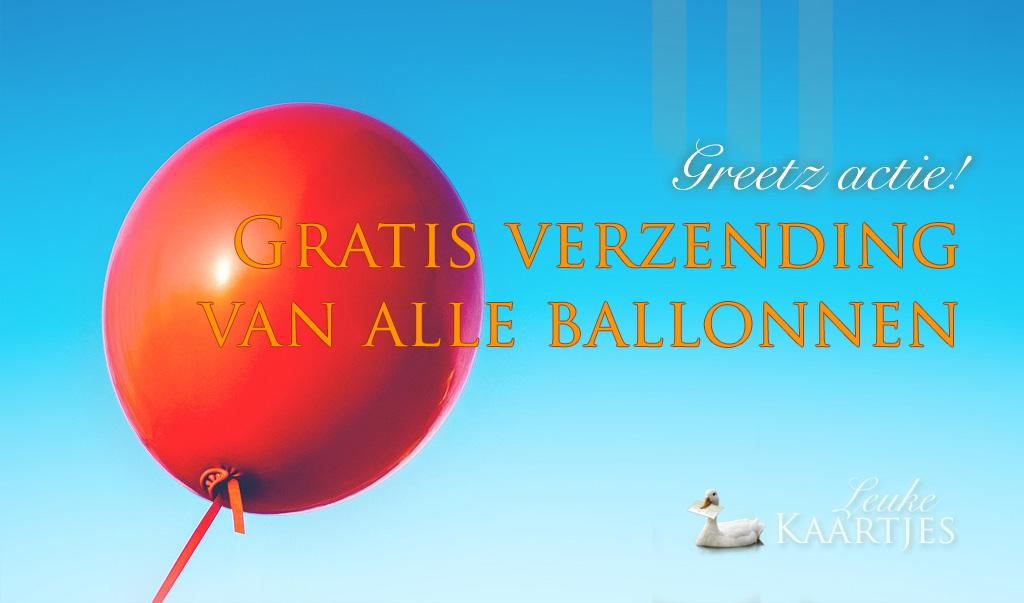 Gratis verzending ballonnen bij Greetz
