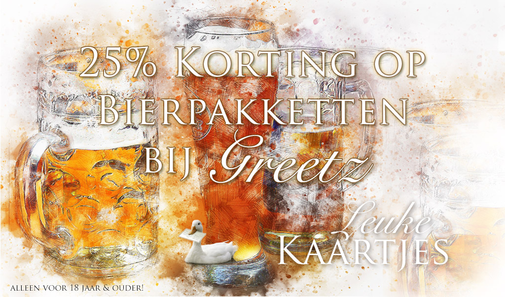 Korting op bierpakketten