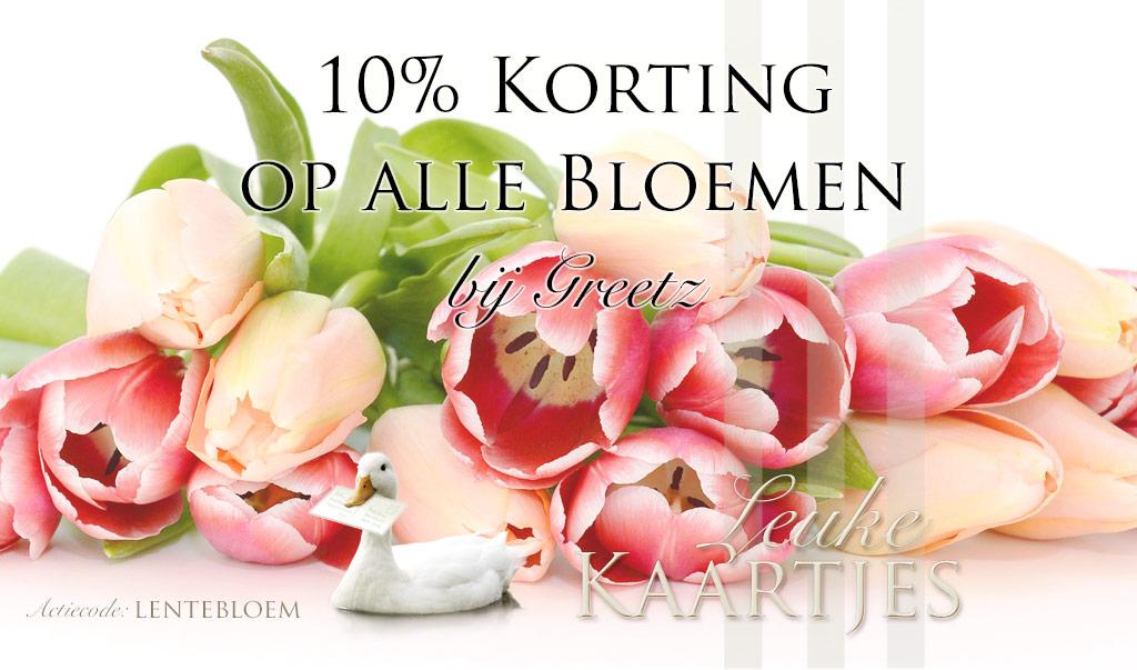 10% Korting op alle bloemen bij Greetz
