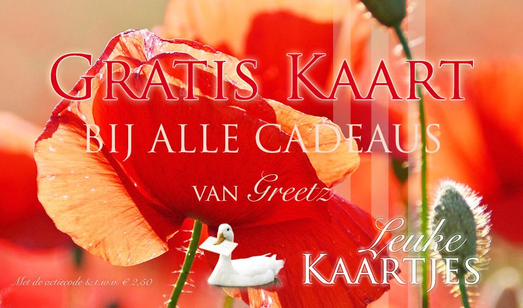 Gratis Kaart t.w.v. € 2,50 bij alle Cadeaus van Greetz