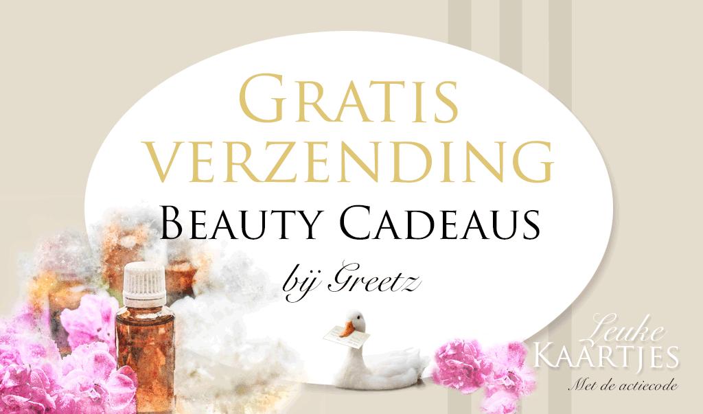 Gratis verzending Beauty Cadeaus bij Greetz