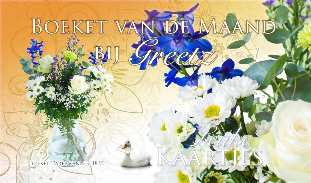 Greetz Boeket van de Maand April - Boeket Parel