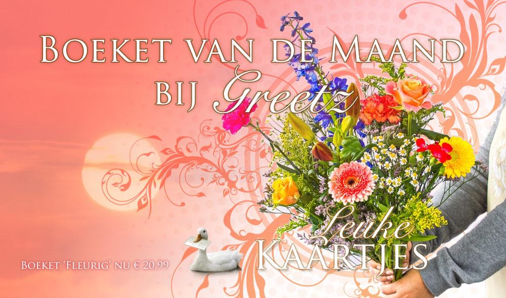 Greetz Boeket van de Maand: Boeket 'Fleurig' voor € 20,99