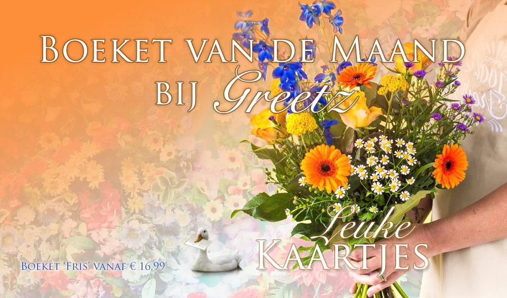 Greetz Boeket van de Maand: Boeket 'Fris' vanaf € 16,99