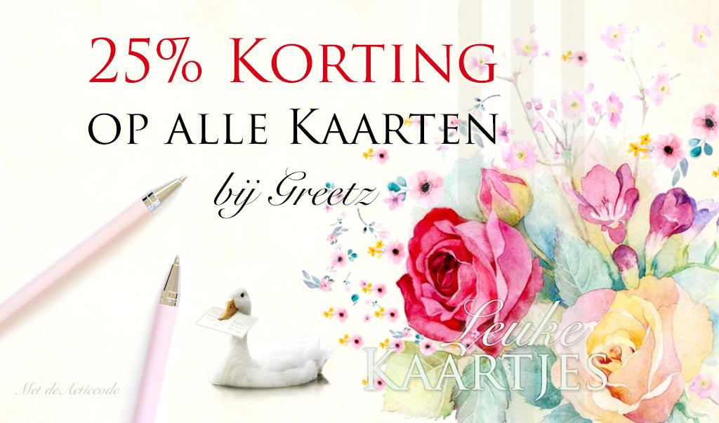 25% Korting op alle Kaarten bij Greetz