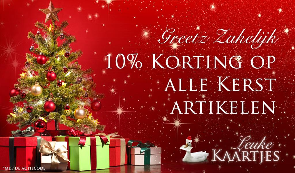 10% Korting op het hele Kerstassortiment