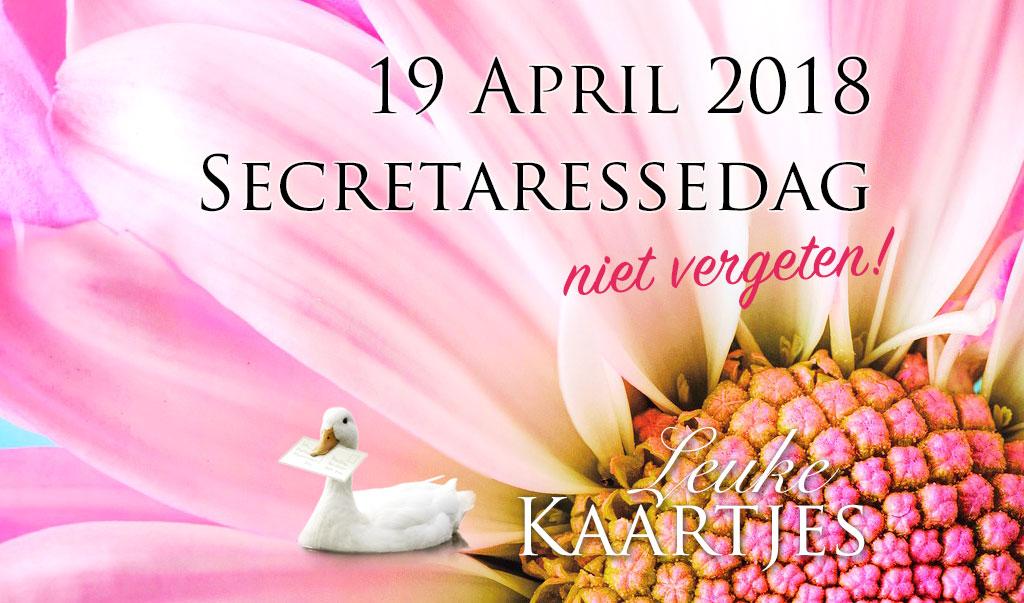Secretaressedag 2018 - 19 april 2018