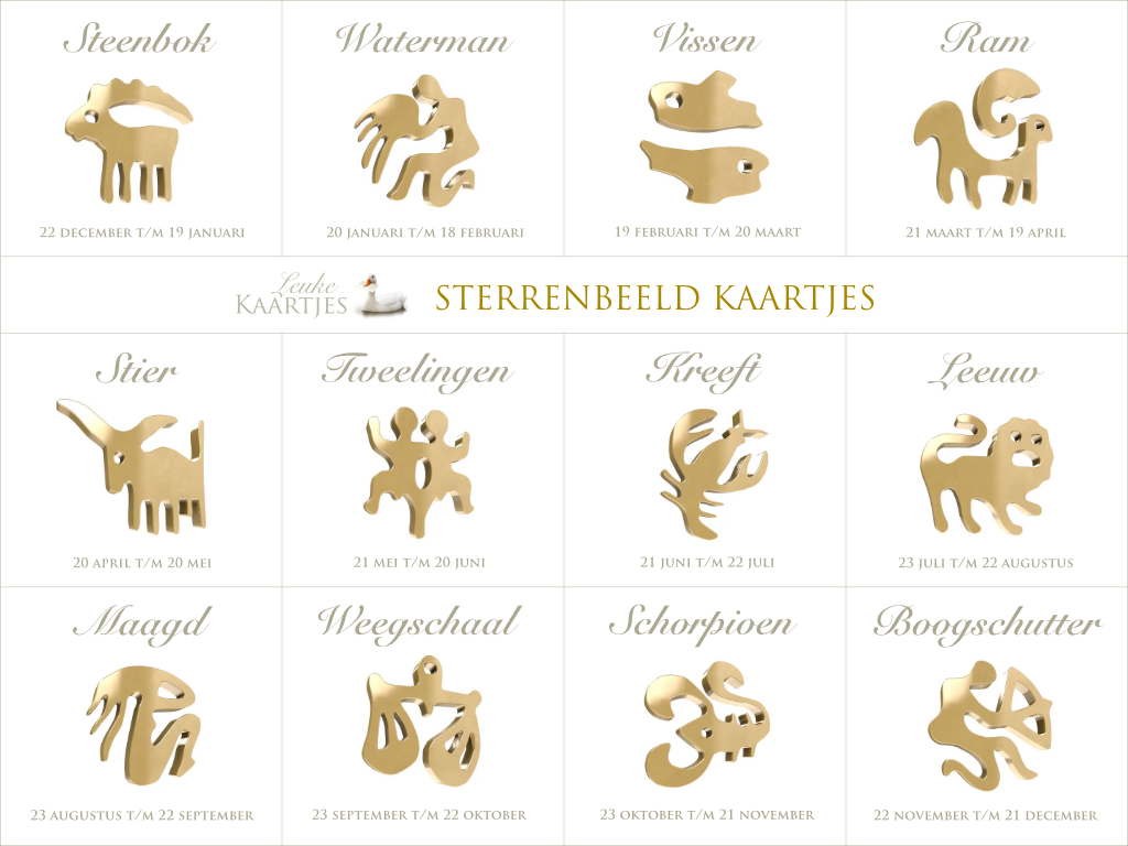 Sterrenbeeld Kaartjes - Horoscoop